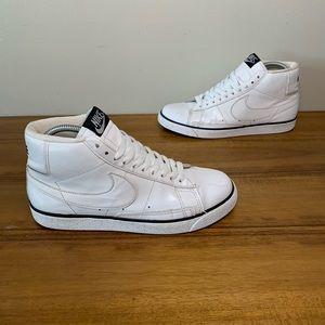 Nike Blazer High Premium White Leather Mens Shoes